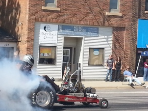 E-Rod Tractor Pull in front of River Rock Community Alliance Church