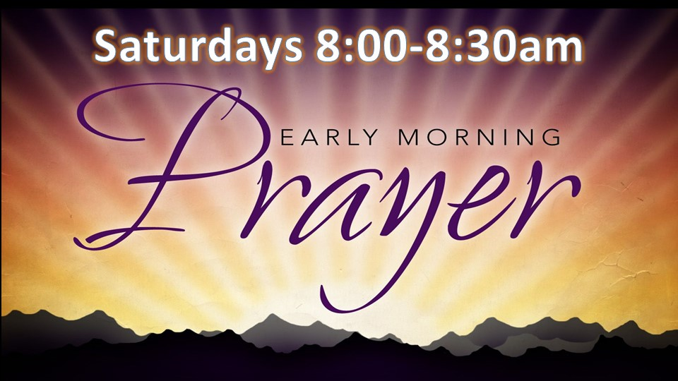 Can you join us for 30 minutes of Prayer this Saturday?