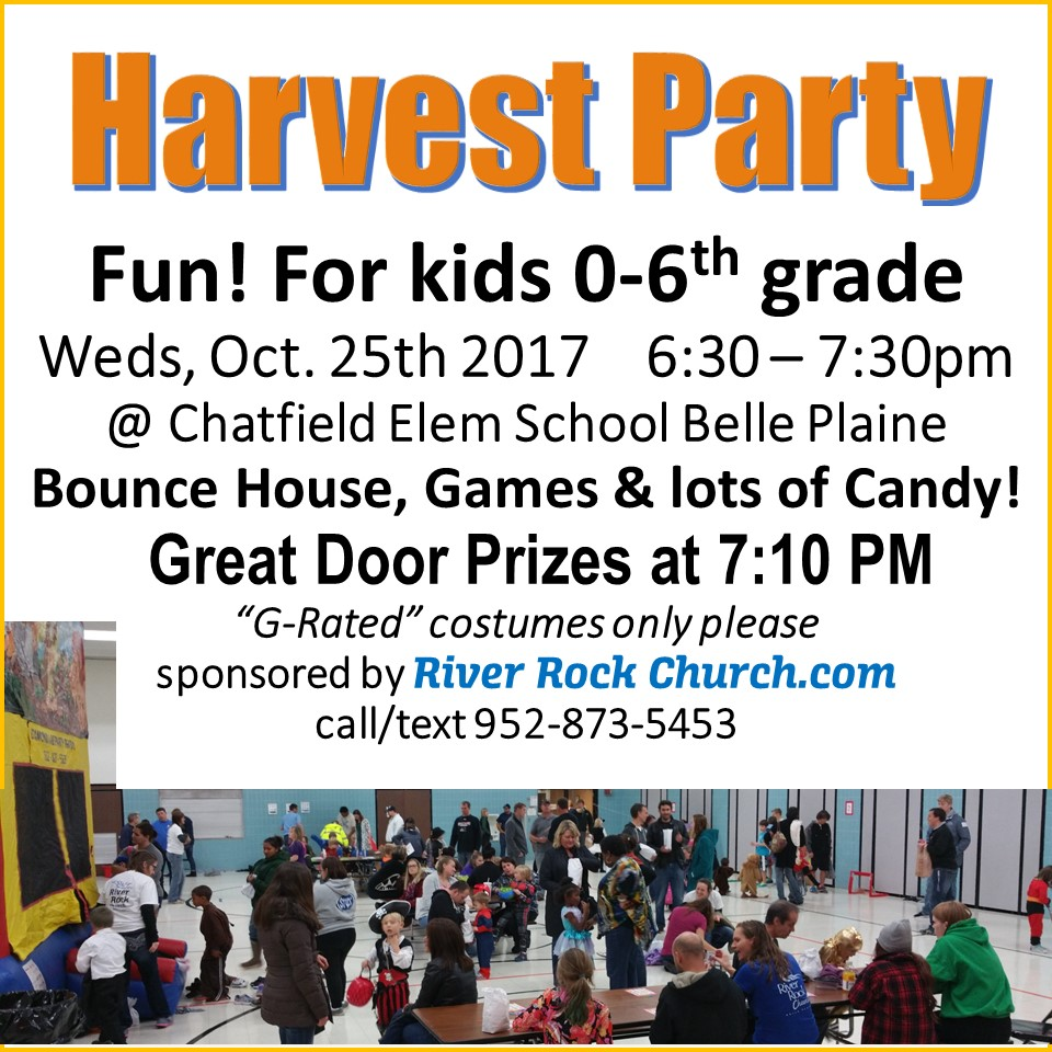 Kids Harvest Party Oct 25th